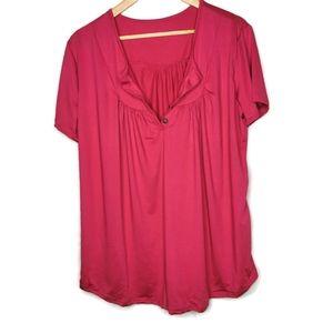 NWOT Pink Short Sleeved Top XXL